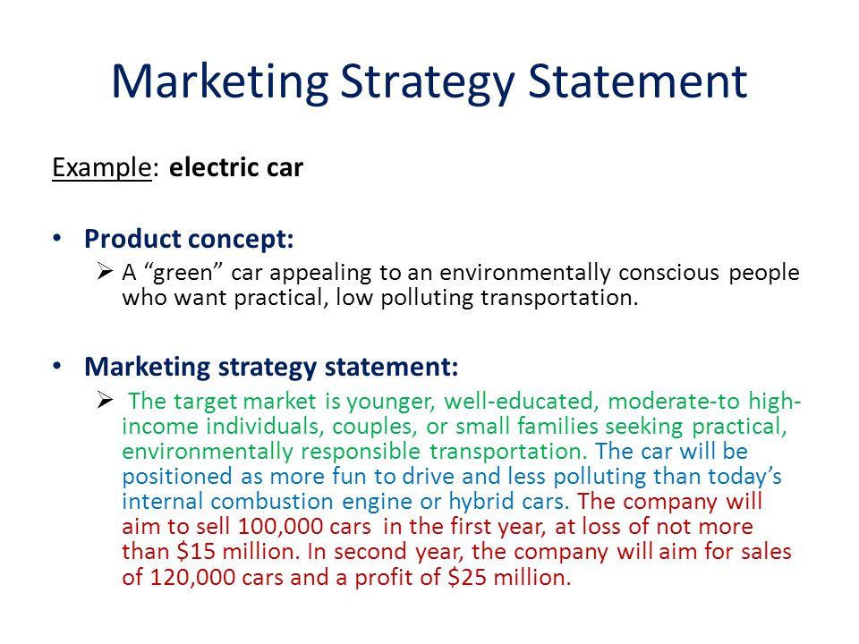 market strategy example