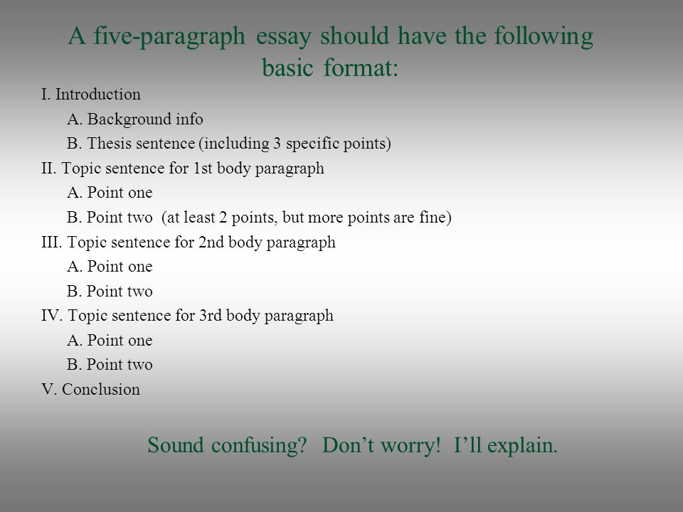 How to edit a five paragraph essay
