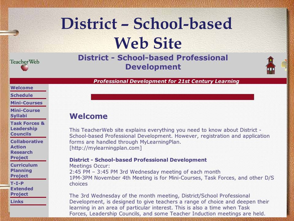 29 District – School-based Web Site