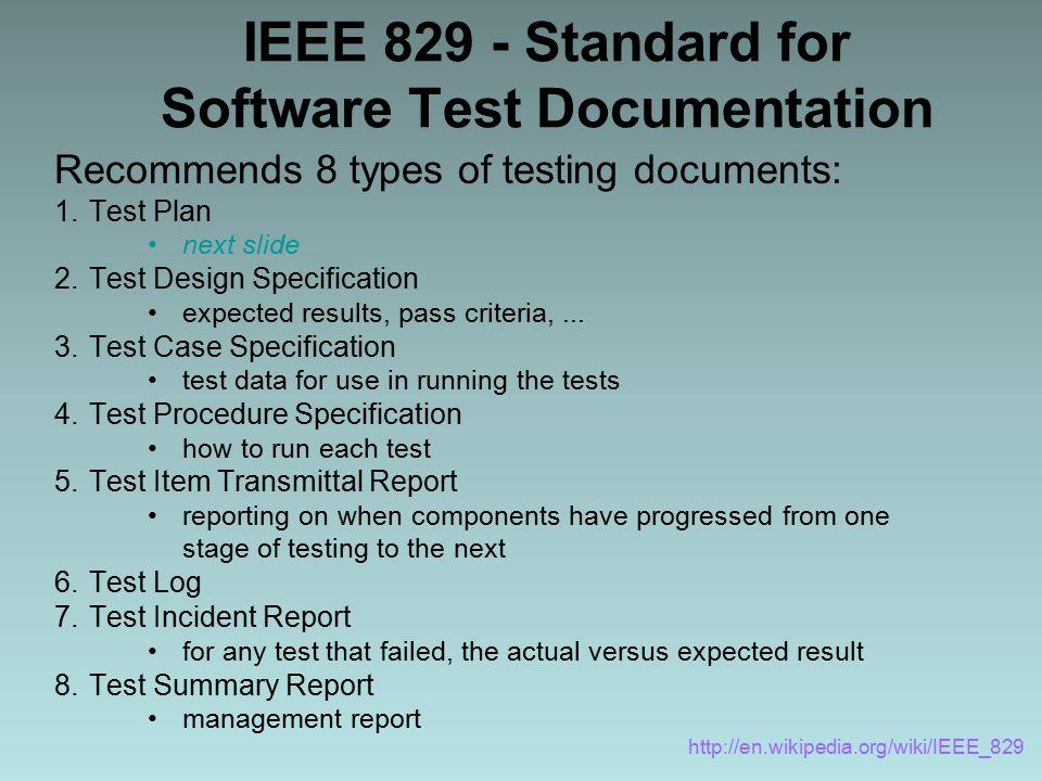 "Presentation ""Software Testing and validation SQA - SWE 434 Prof ..."