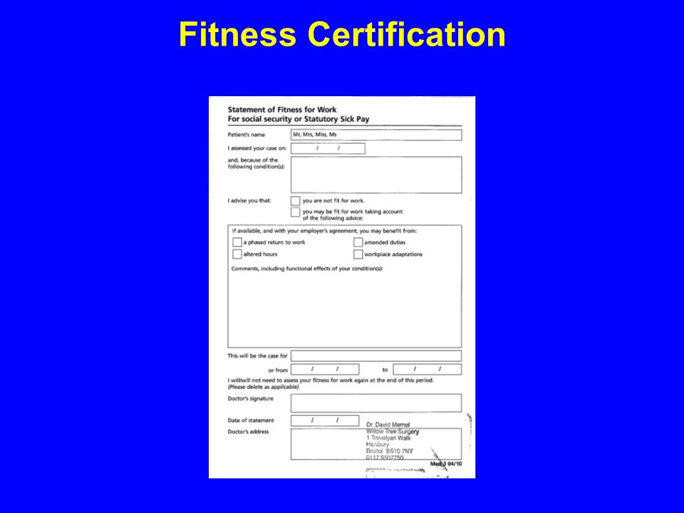 Fitness Certification