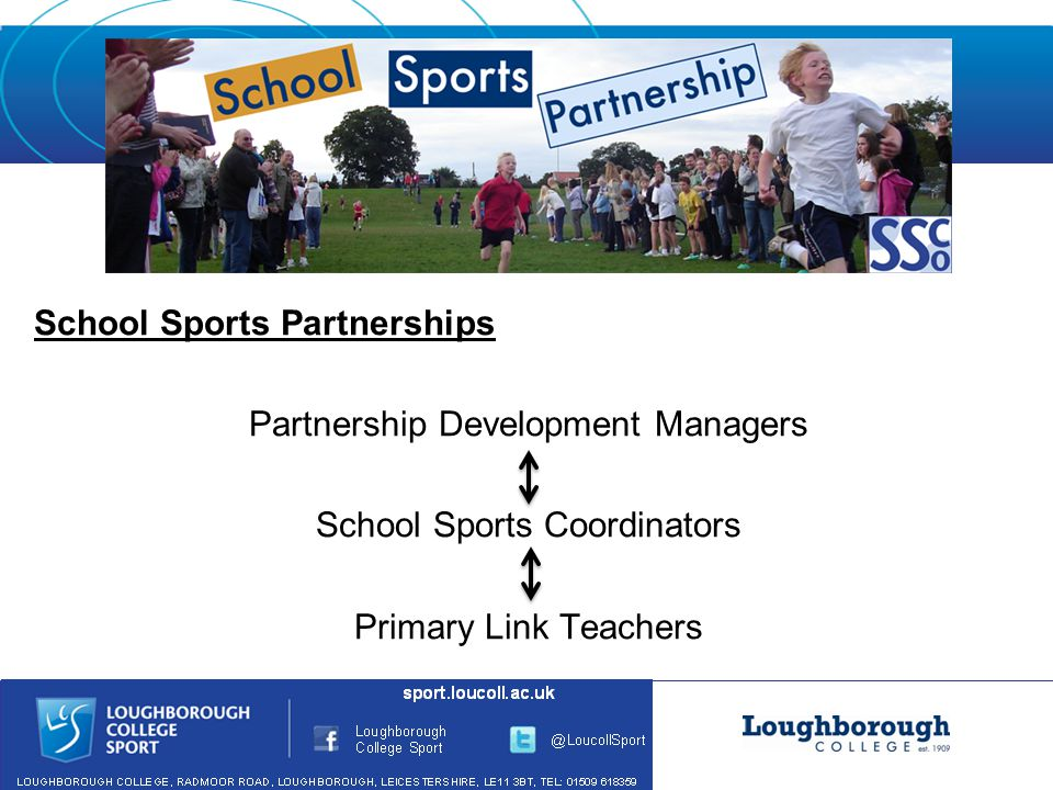 School Sports Partnerships Partnership Development Managers School Sports Coordinators Primary Link Teachers