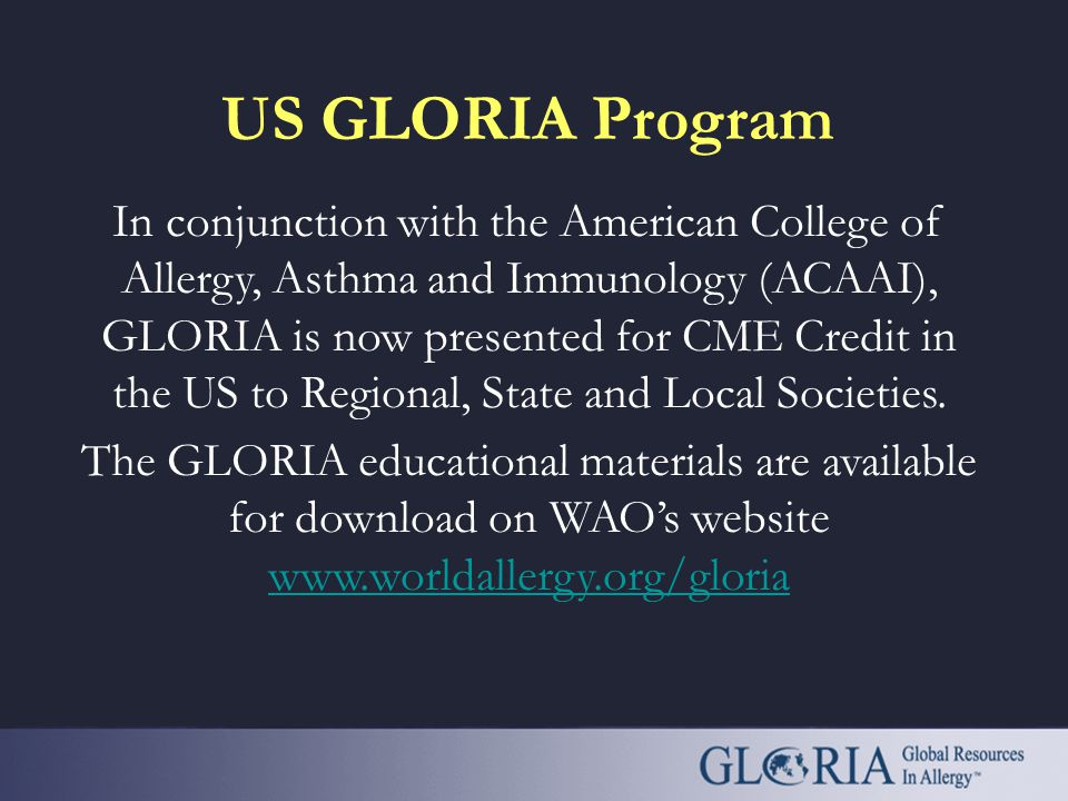 Loria and allergy