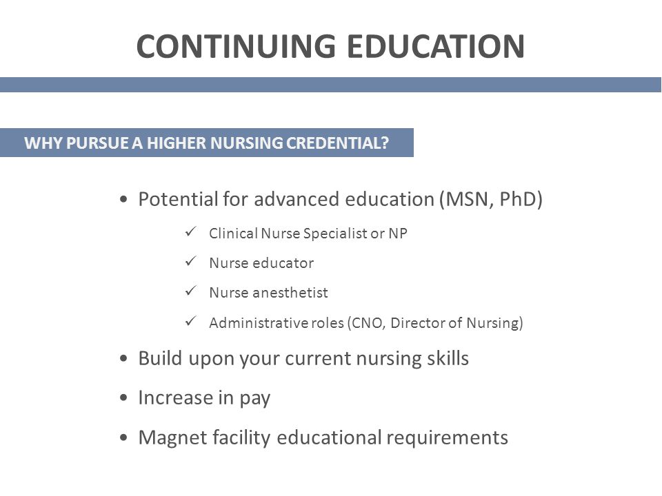 Continuing Your Nursing Education Congratulations Ppt Download