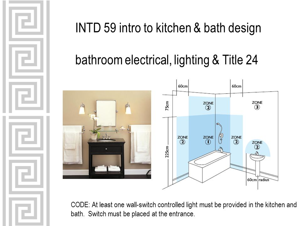 INTD 59 intro to kitchen & bath design bathroom electrical, lighting ...