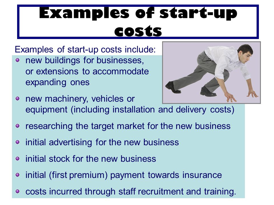 start up costs examples
