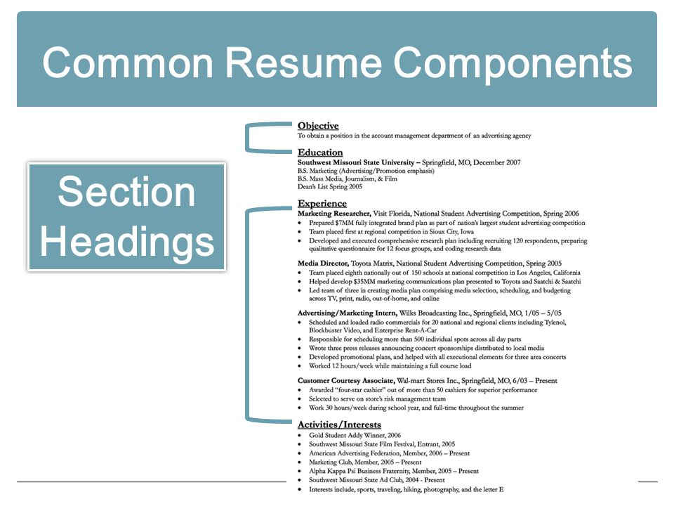Resume Writing The Resume An important job search tool PURPOSE