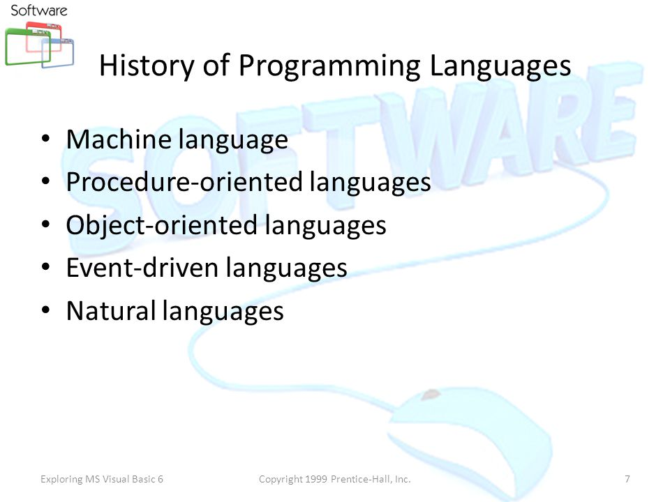 Software Collection of Programs Set of Commands ( Pre Defined ) Programming Language Programmer