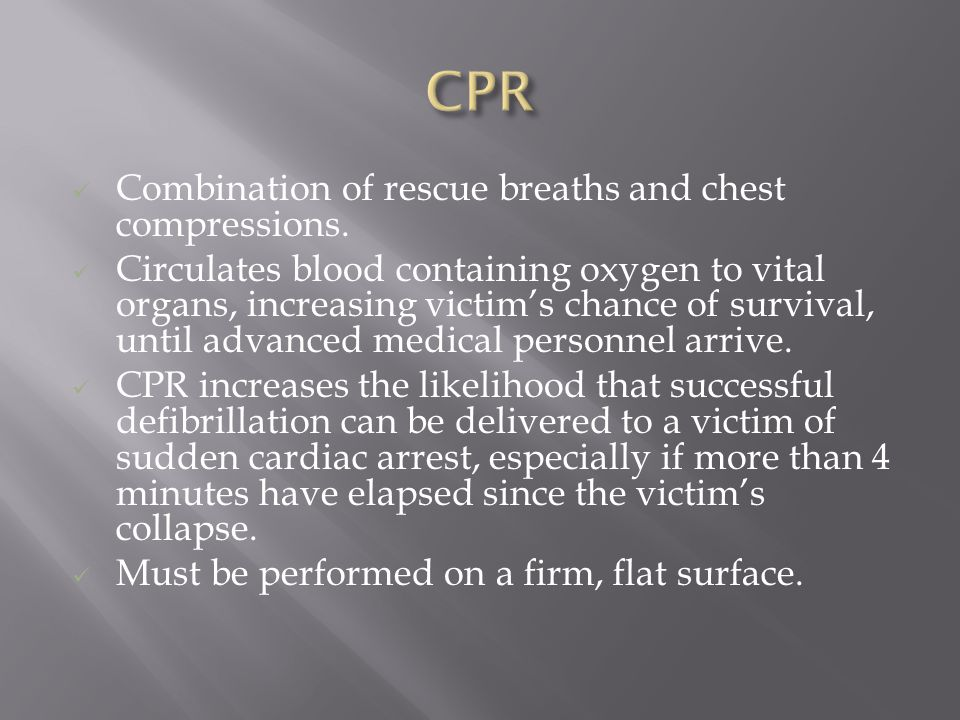 Combination of rescue breaths and chest compressions.