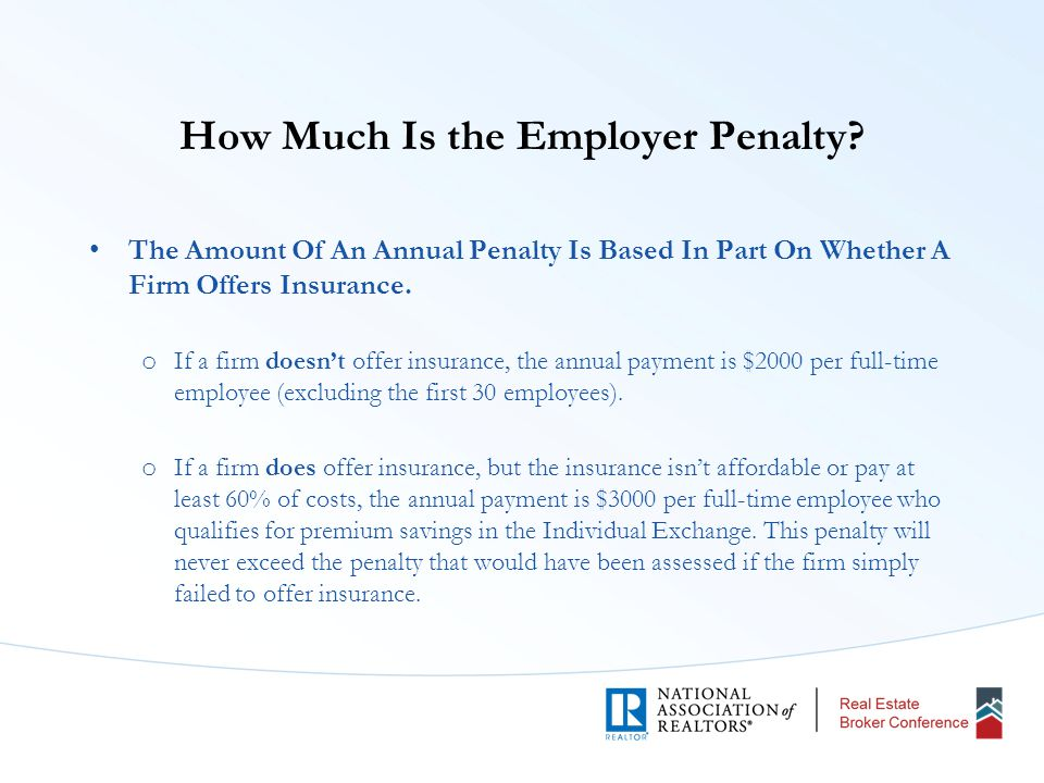 How Much Is the Employer Penalty.
