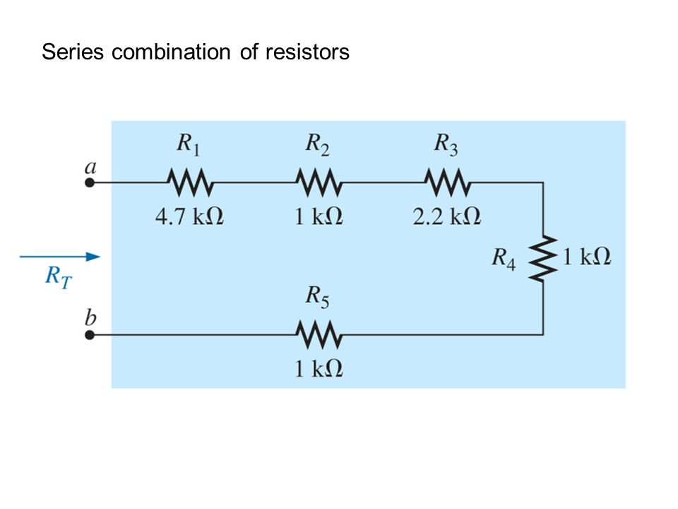 Series combination of resistors