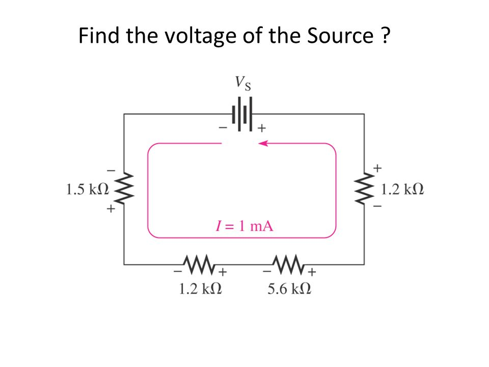 Find the voltage of the Source