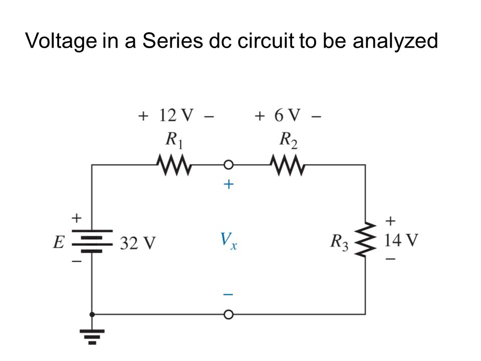 Voltage in a Series dc circuit to be analyzed