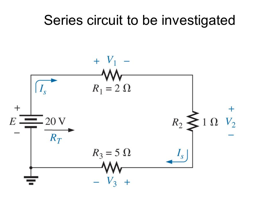 Series circuit to be investigated