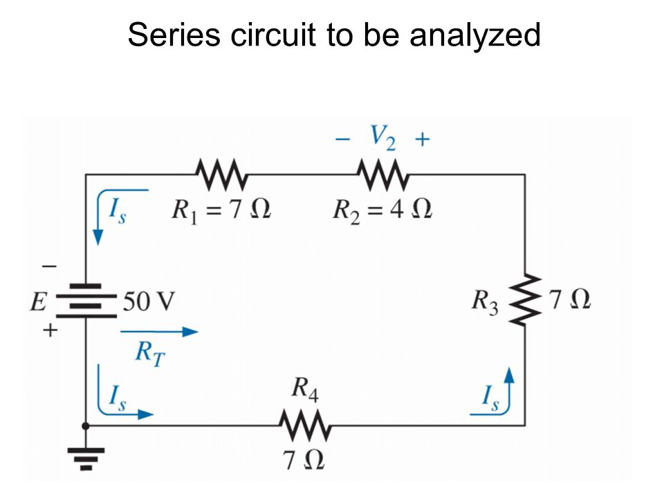 Series circuit to be analyzed