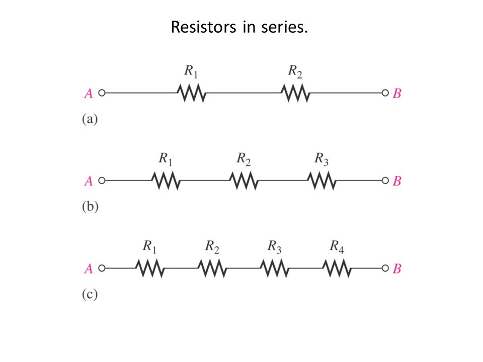 Resistors in series.