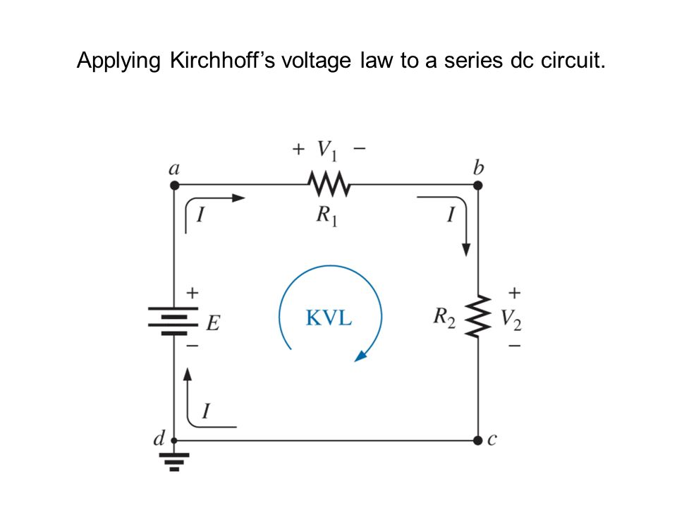 Applying Kirchhoff's voltage law to a series dc circuit.
