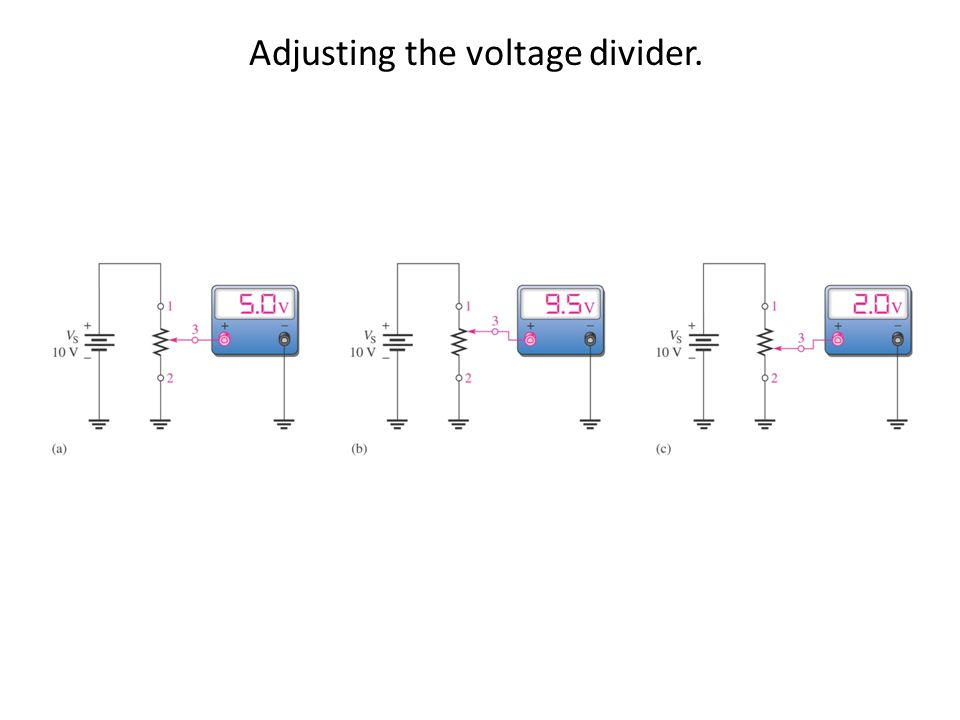 Adjusting the voltage divider.