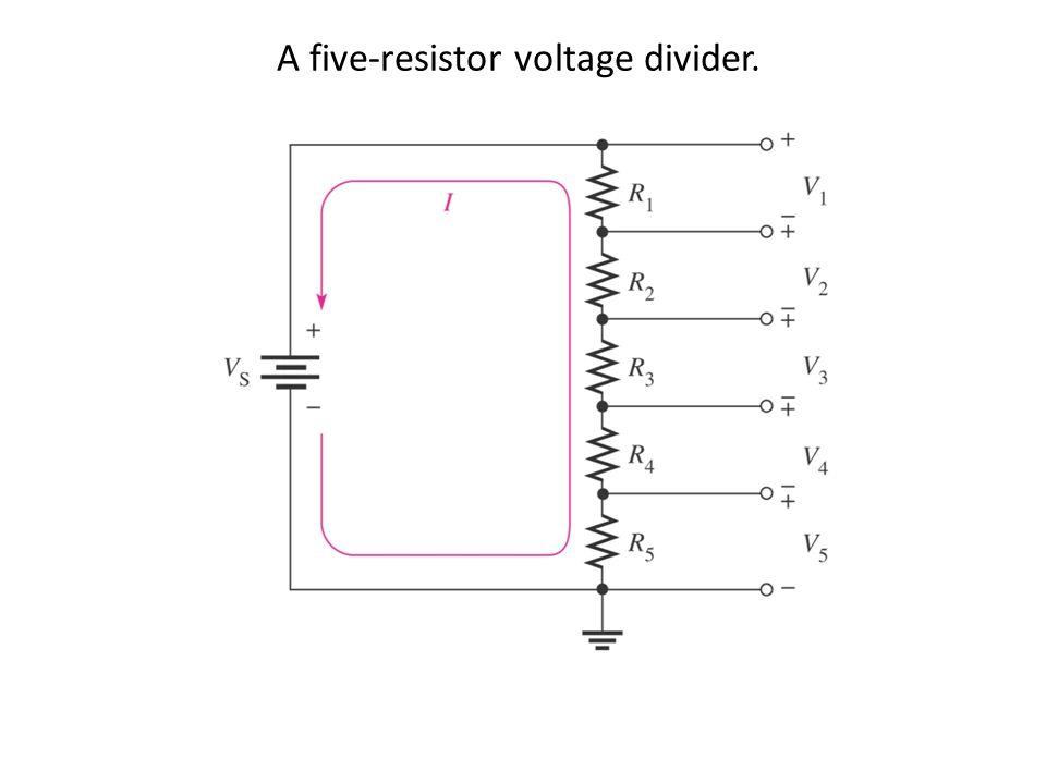 A five-resistor voltage divider.