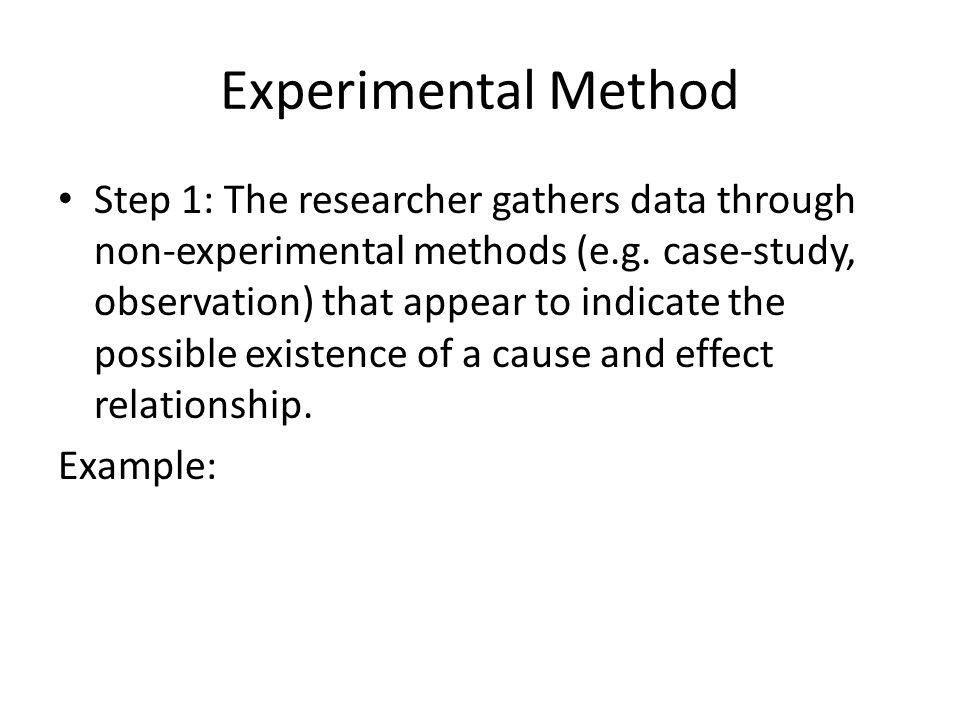 experimental method essay