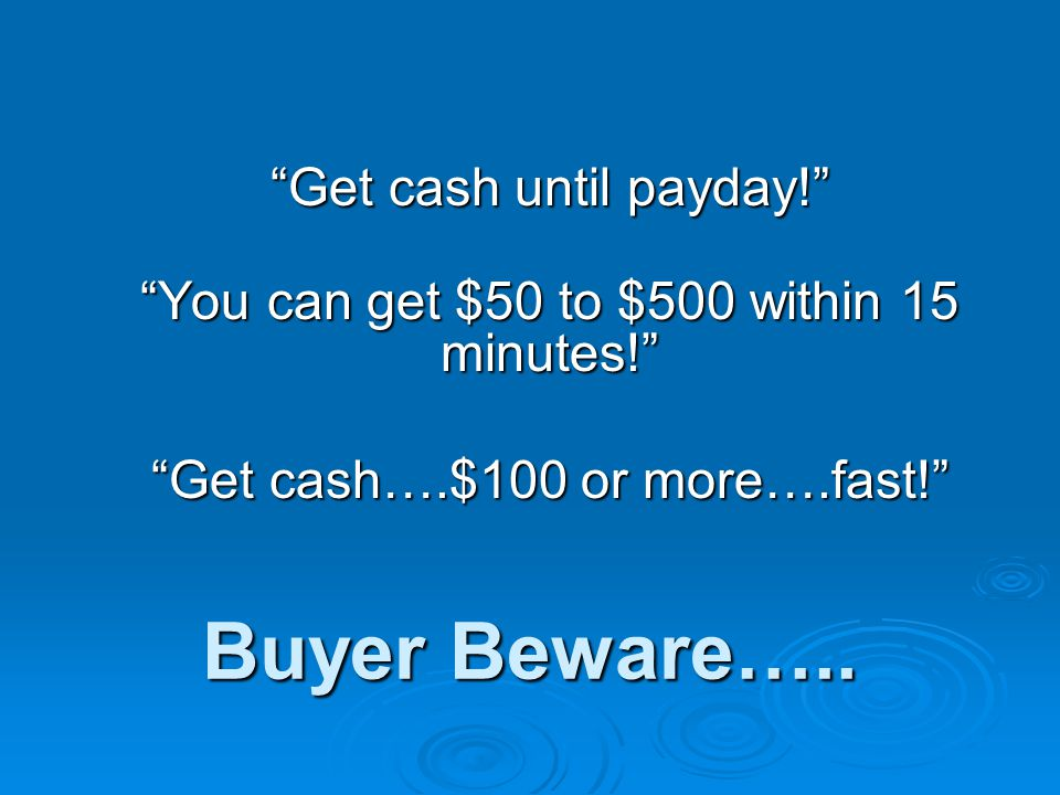 Buyer Beware…..