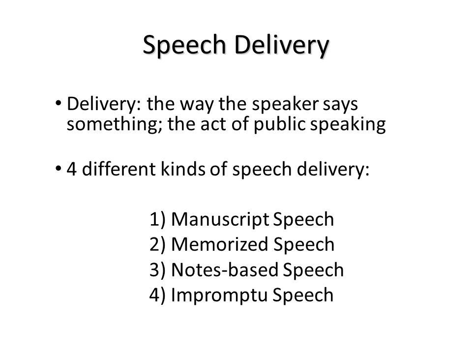 manuscript speech delivery