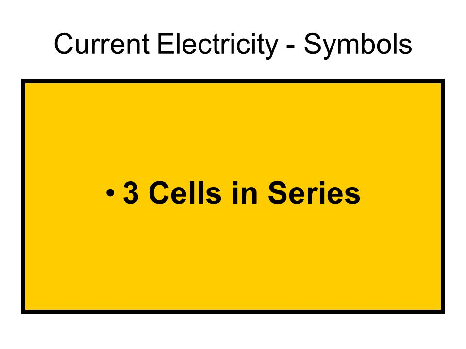 3 Cells in Series