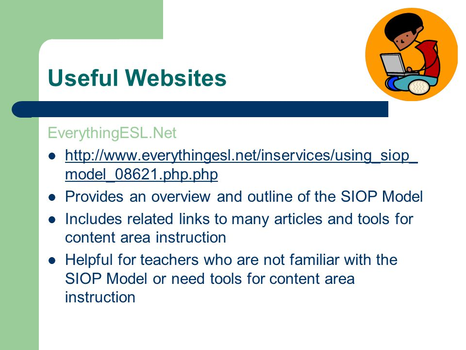 esl lesson plans using siop model