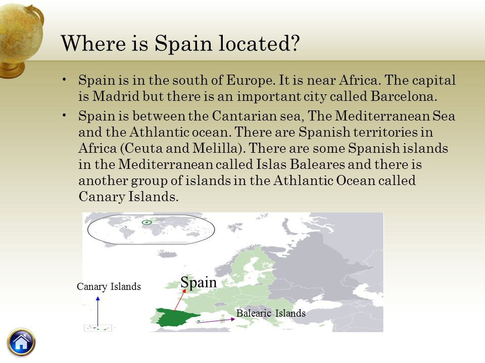 Spain Catalonia Main Menu Spain Location Geographic Features A - Where is spain located