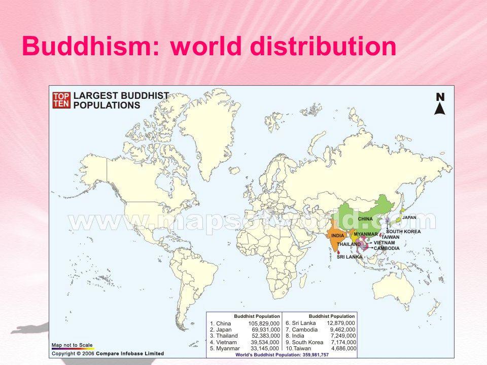 Buddhism: world distribution