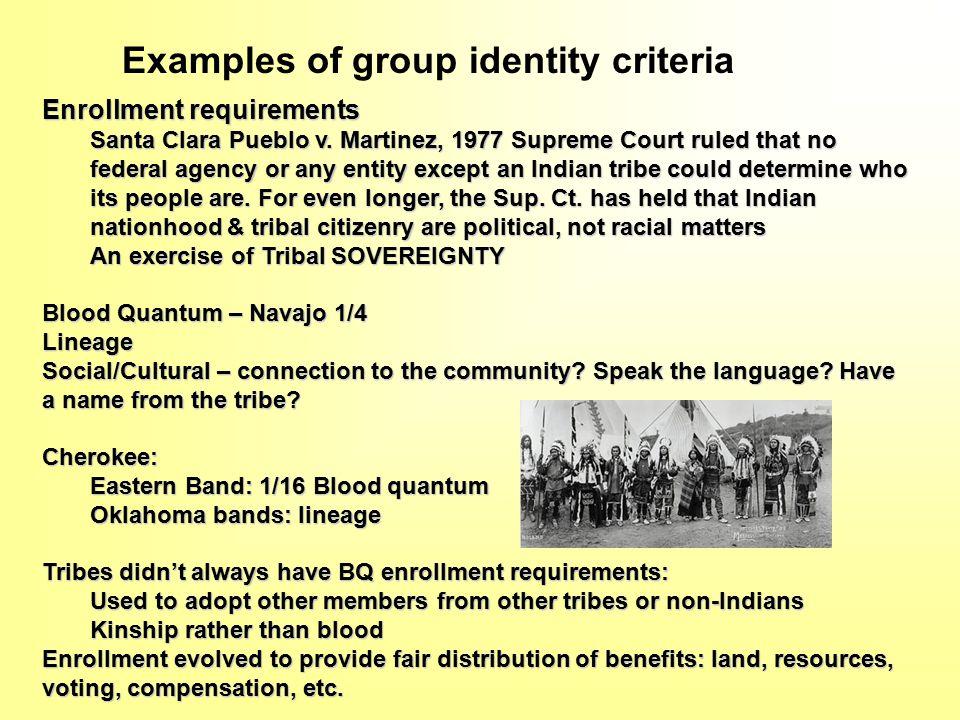 Enrollment requirements Santa Clara Pueblo v.