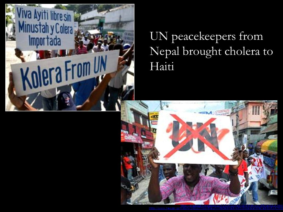 UN peacekeepers from Nepal brought cholera to Haiti