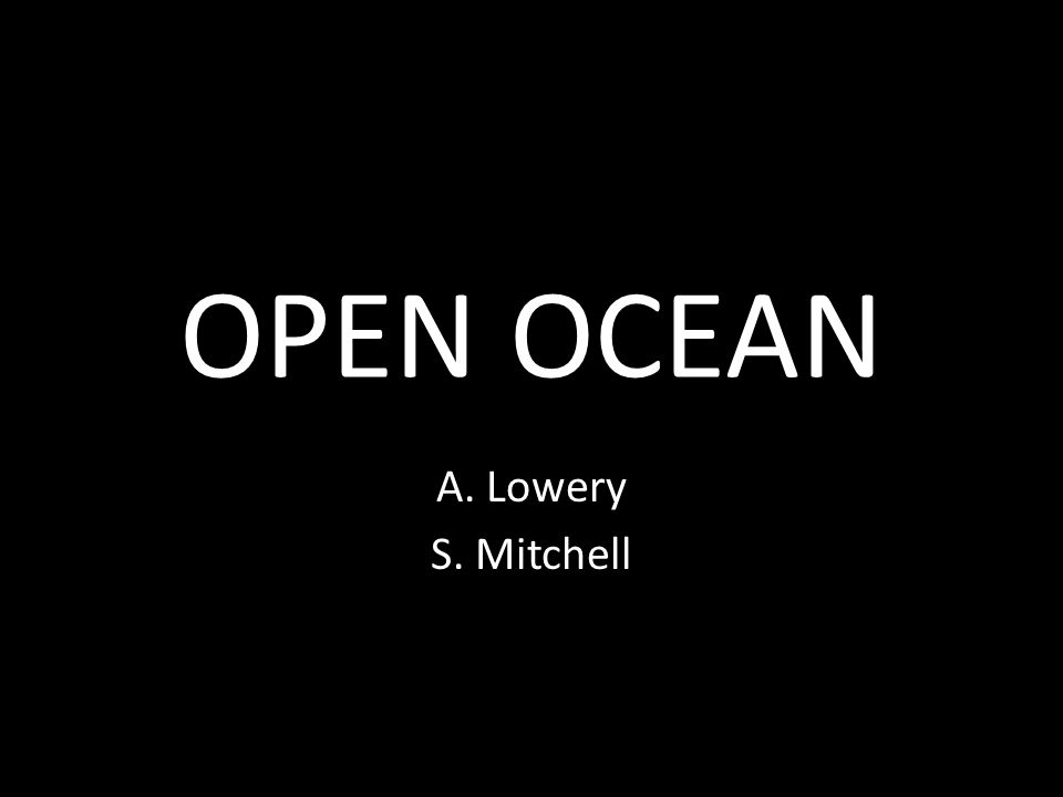 OPEN OCEAN A. Lowery S. Mitchell