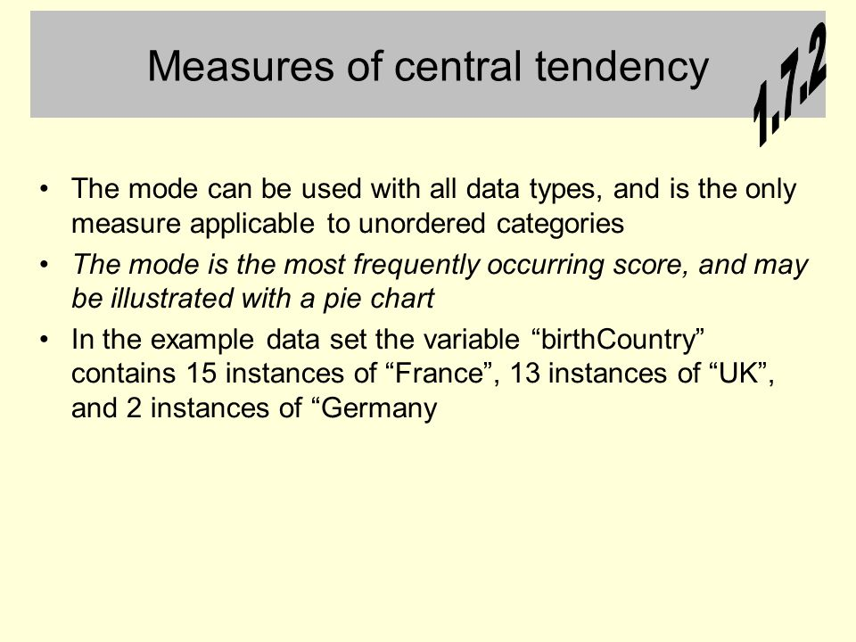 measures of central tendency research paper Calculate measures of central tendency and dispersion and provide calculate and interpret measures of central tendency and dispersion paper urgency.