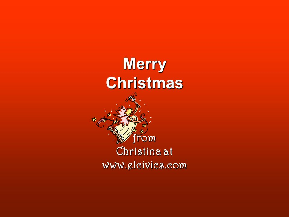 Merry Christmas from Christina at
