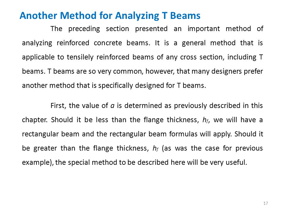 How to design and analyse a T-Beam?