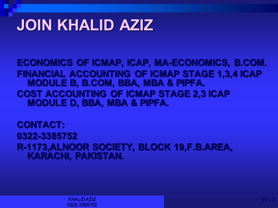 KHALID AZIZ Fraud Auditing