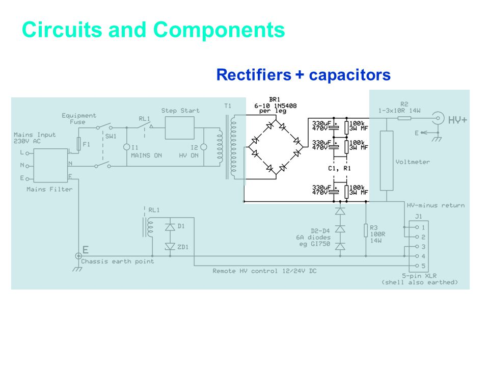 Circuits and Components Rectifiers + capacitors