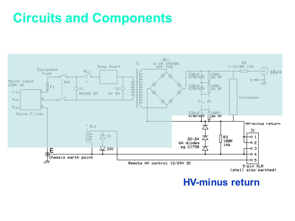 Circuits and Components HV-minus return
