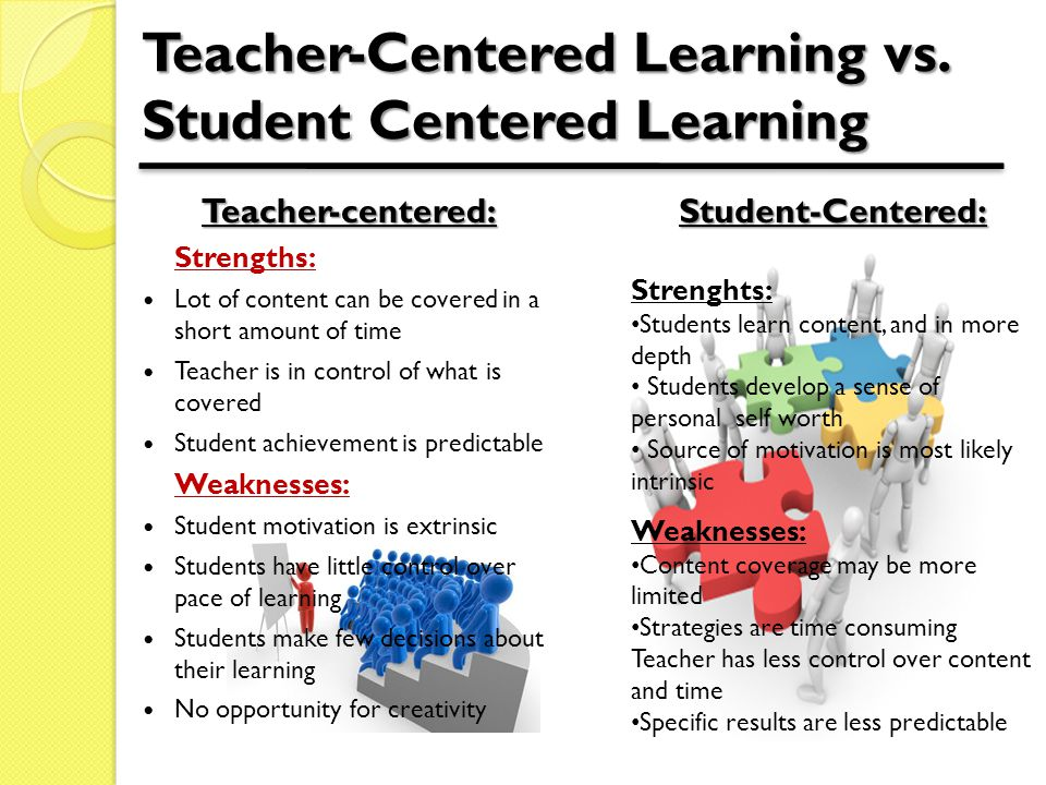 Teacher-Centered Learning vs.