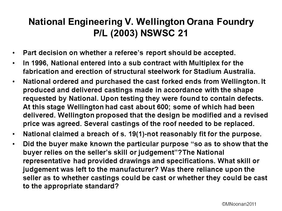 ©MNoonan2011 National Engineering V.