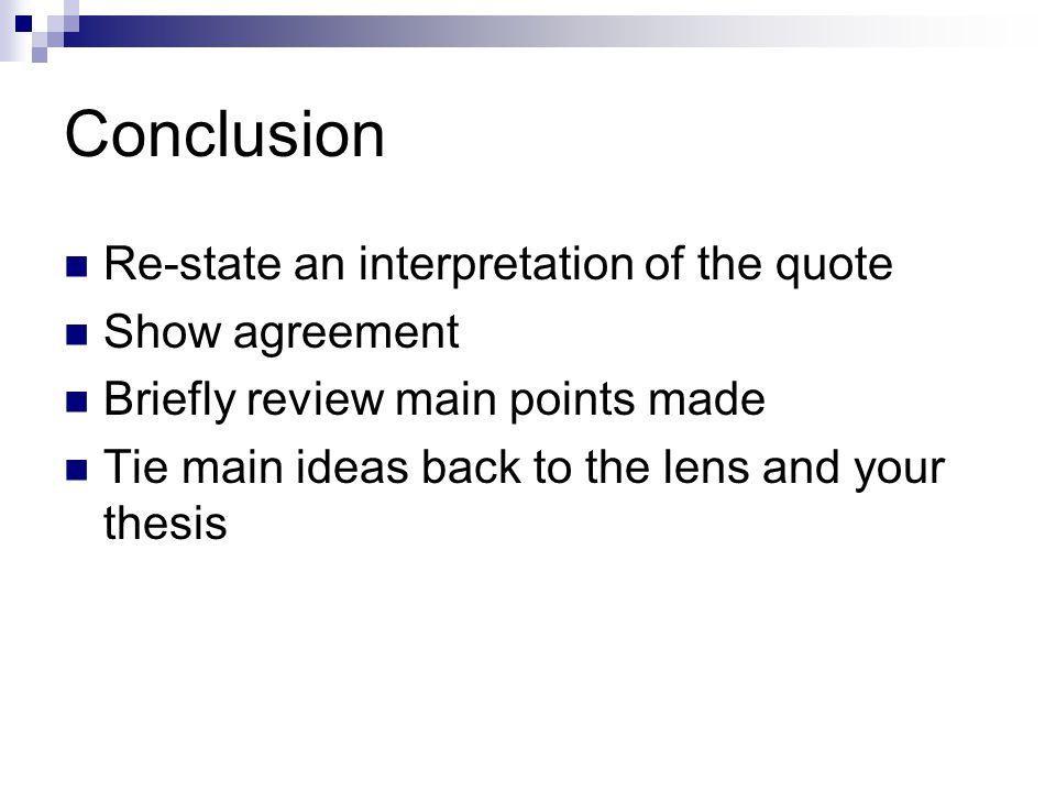 sample critical lens essay