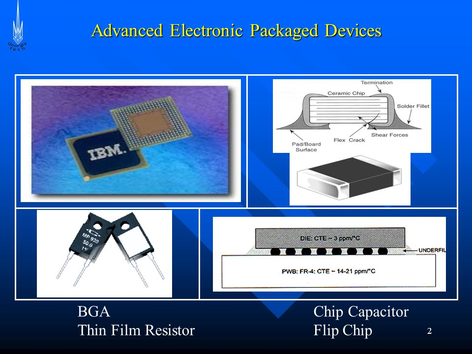 2 Advanced Electronic Packaged Devices BGA Chip Capacitor Thin Film ResistorFlip Chip