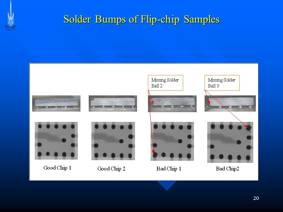 20 Solder Bumps of Flip-chip Samples