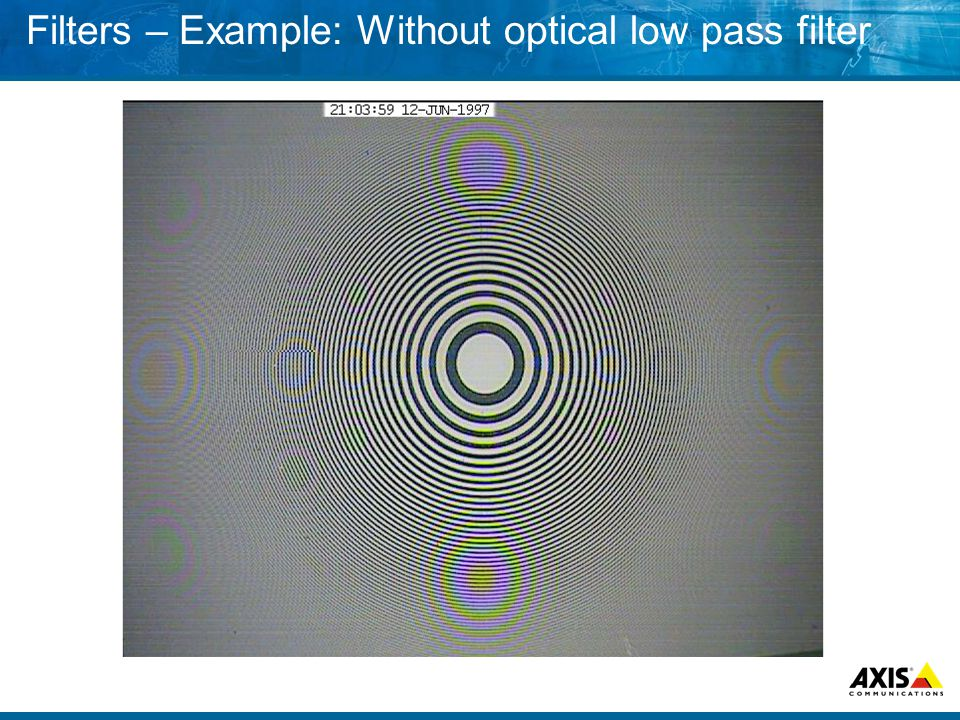 Filters – Example: Without optical low pass filter