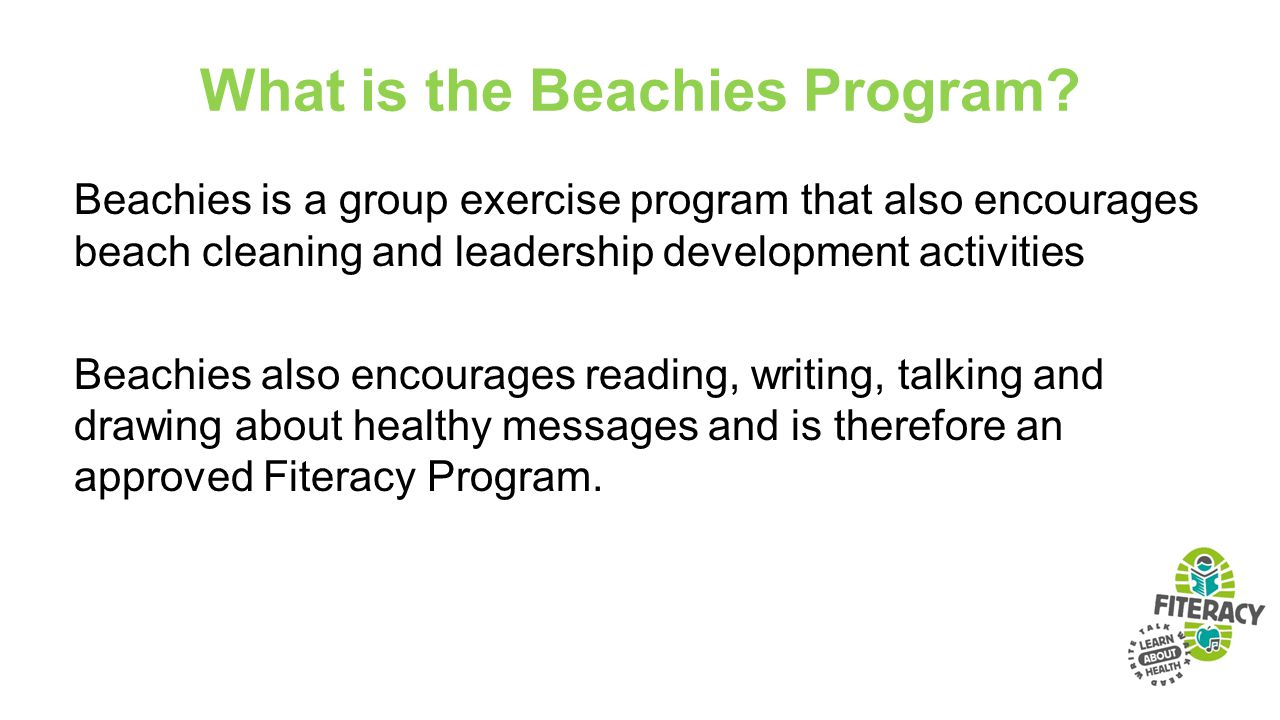 What is the Beachies Program.