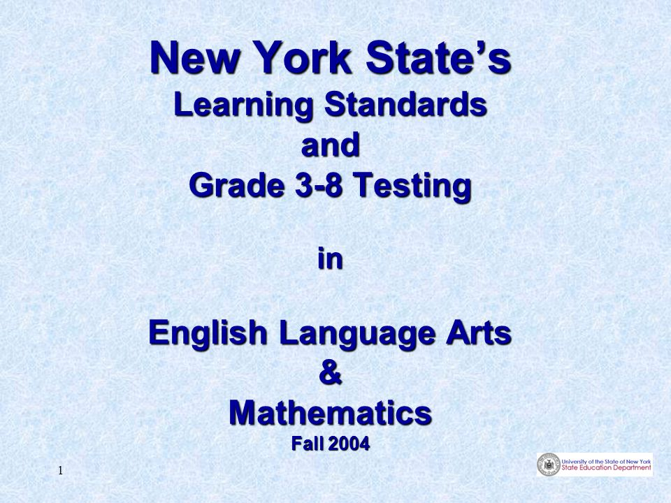 1 New York States Learning Standards and Grade 38 Testing in – Nysaa Worksheets