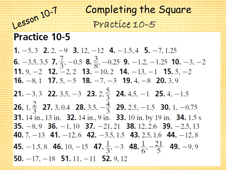 Solving Quadratic Equations Practice 10 4 Tessshebaylo – Practice 5-4 Factoring Quadratic Expressions Worksheet Answers