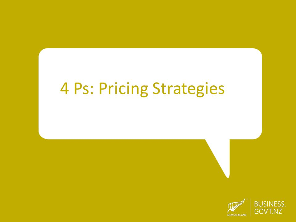 4 Ps: Pricing Strategies