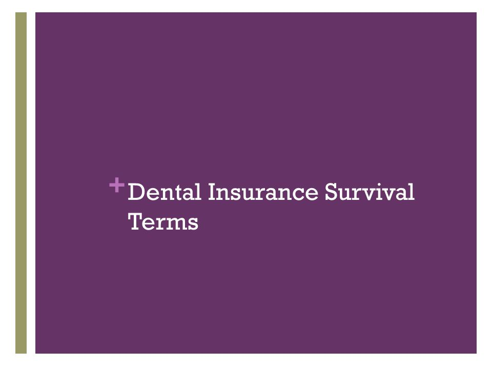 + Dental Insurance Survival Terms
